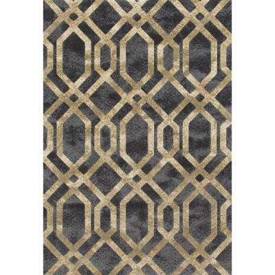 8 X 10 Art Deco Yellow Area Rugs Rugs The Home Depot