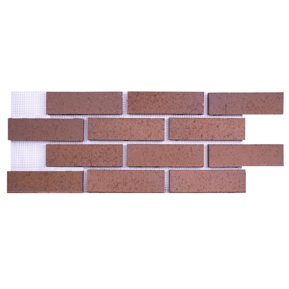 28 in. x 10.5 in. x 0.625 in. (6.99 sq. ft.) Brickwebb Nairobi Thin Brick Sheets Flats (Box of 4-Sheets)