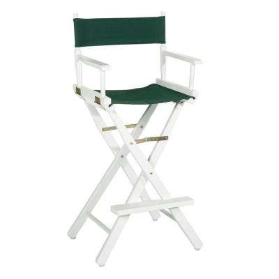 White Wood Folding Director's Chair