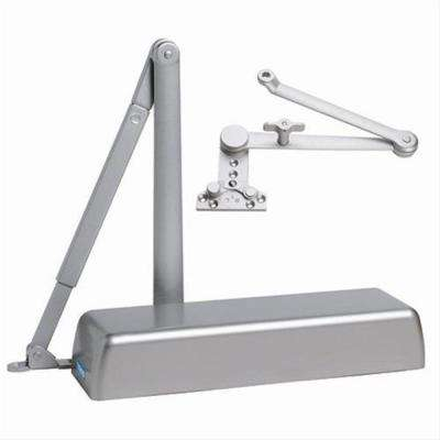Heavy Duty ADA Commercial Door Closer with Hold Open Cush-N-Stop Arm in Aluminum - Sizes 1-6