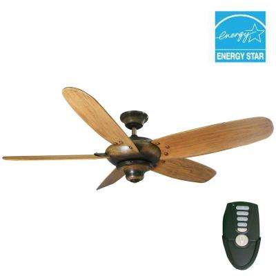 Altura 56 in. Indoor Gilded Espresso Ceiling Fan with Remote Control