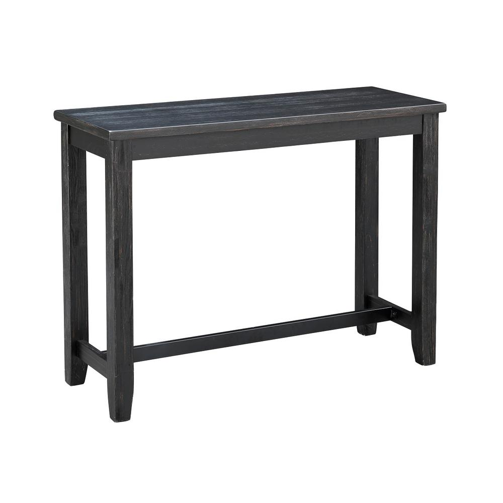 Dayton Black with Brown Rub Counter Height Console Table