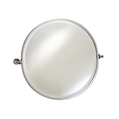 Radiance 24 in. W x 24 in. H Framed Circle Beveled Edge Bathroom Vanity Mirror in POLISHED CHROME
