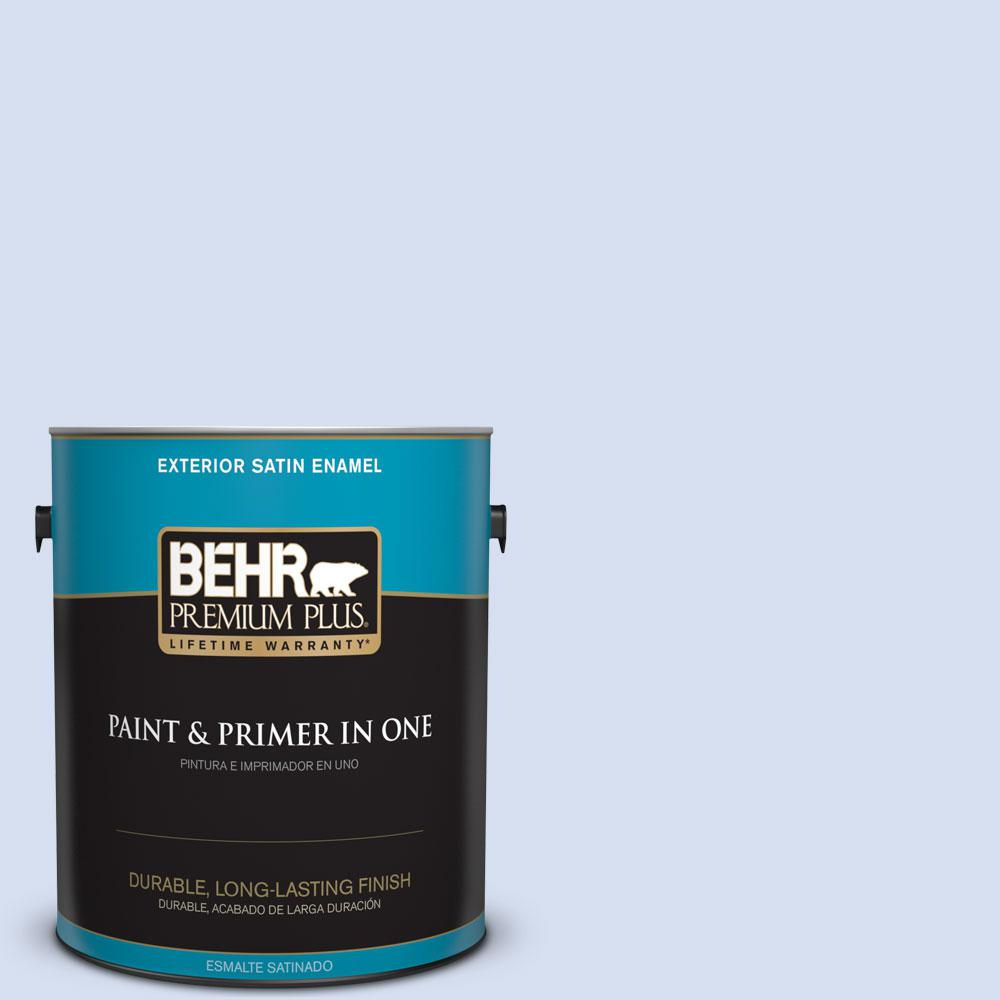 BEHR Premium Plus 1-gal. #610C-1 Northern Star Satin Enamel Exterior Paint