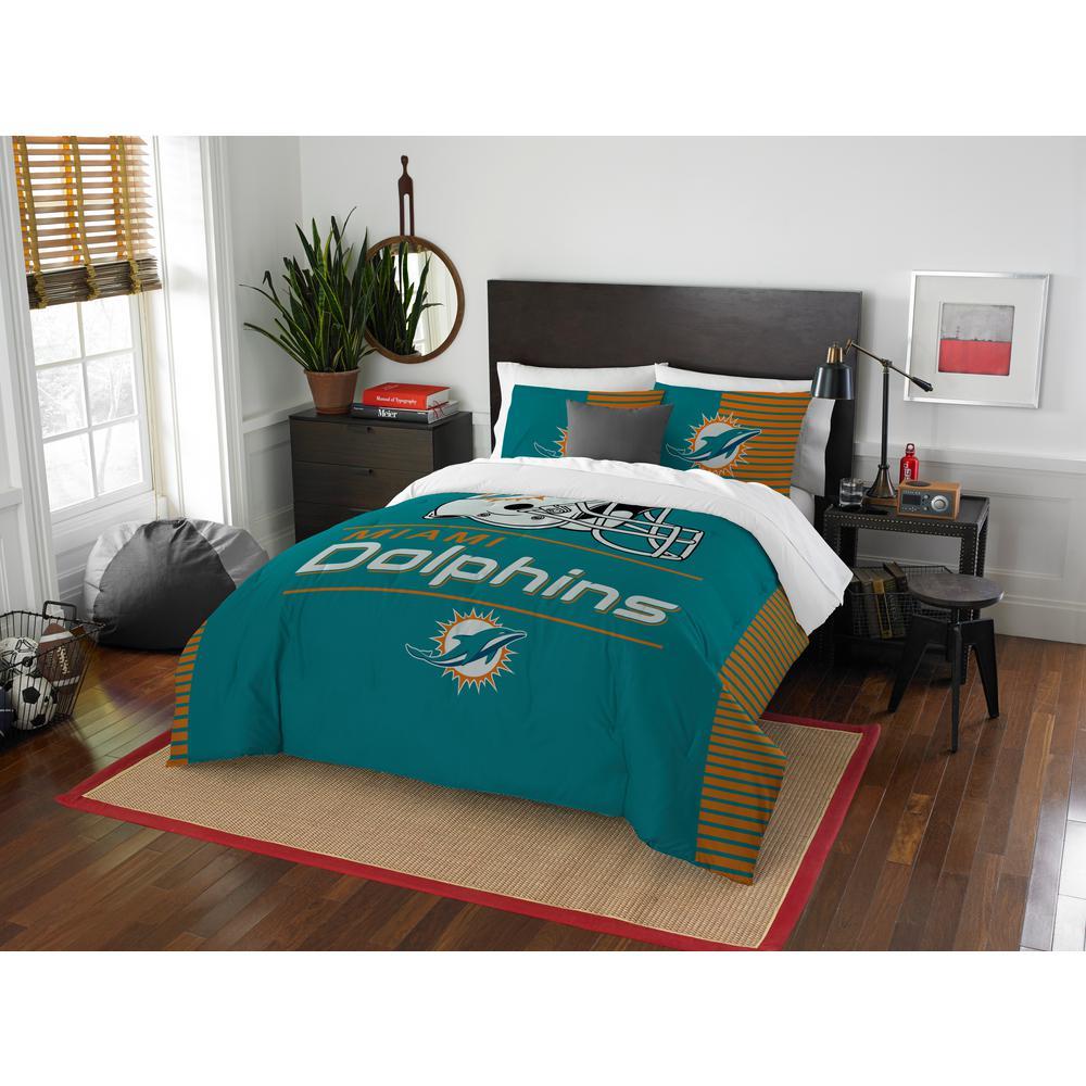 Dolphins 3-Piece Draft Multi Full/Queen Comforter Set 1NFL849000010RET