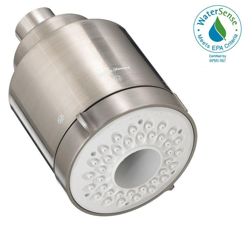FloWise Modern Water-Saving 3-Spray 3.5 in. Showerhead in Brushed Nickel
