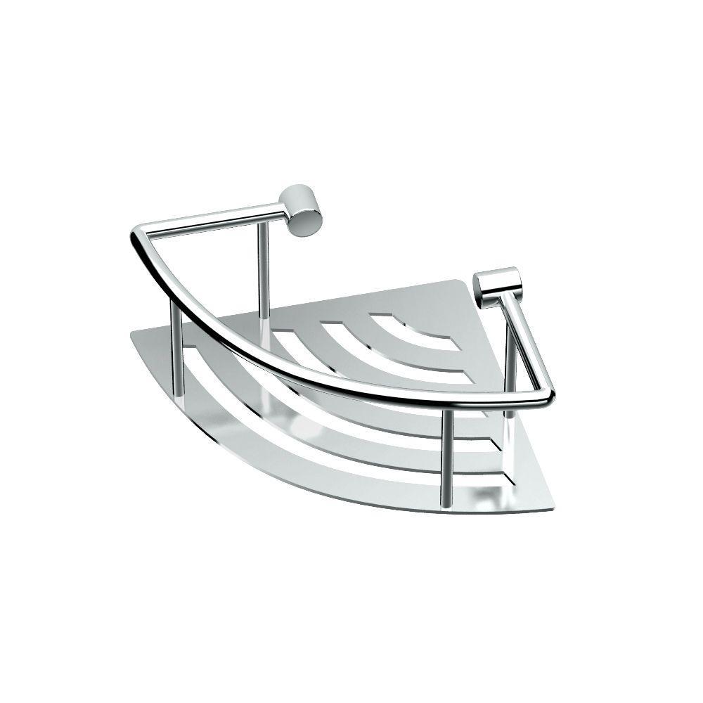Gatco 8 inch W Elegant Corner Shelf in Chrome by Gatco