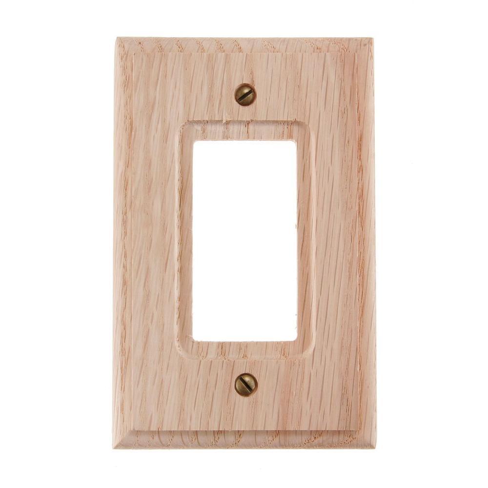 1 Decora Wall Plate - Wood Solid Oak