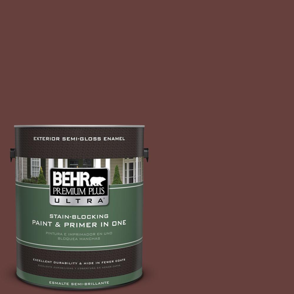 BEHR Premium Plus Ultra 1-gal. #S-G-730 Tawny Port Semi-Gloss Enamel Exterior Paint