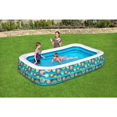 Family 120 in. x 22 in. Rectangular 72 in. Deep Above Ground Inflatable Pool
