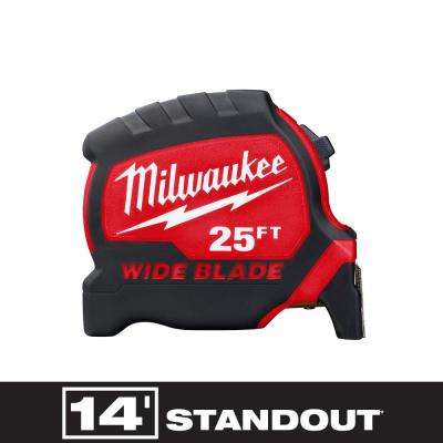 25 ft. x 1.3 in. Wide Blade Tape Measure with 14 ft. Standout