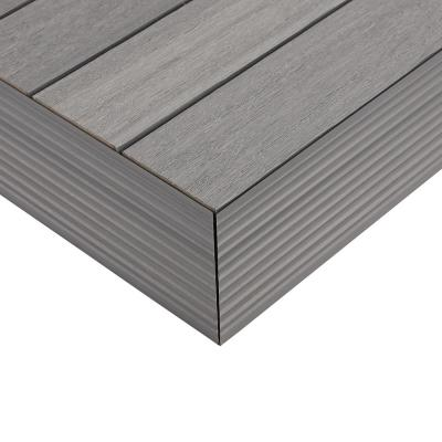 1/6 ft. x 1 ft. Quick Deck Composite Deck Tile Outside Corner Fascia in Westminster Gray (2-Pieces/Box)