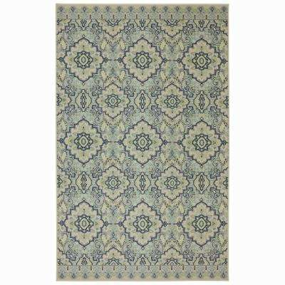 Woodbridge Santa Ana Aqua 5 ft. x 8 ft. Indoor Area Rug