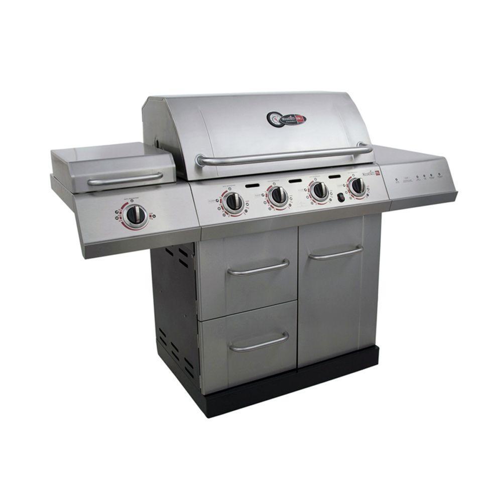 Gourmet 4-Burner TRU-Infrared Propane Gas Grill with Side Burner