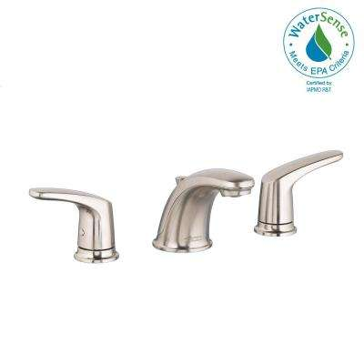 Colony Pro 8 in. Widespread 2-Handle Low-Arc Bathroom Faucet with 50/50 Pop-Up Drain in Brushed Nickel