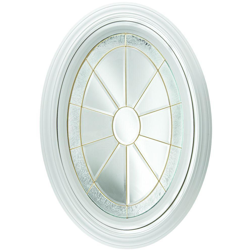 decorative glass bathroom windows hy lite 23 25 in x 35 25 in decorative glass fixed oval  x 35 25 in decorative glass fixed oval