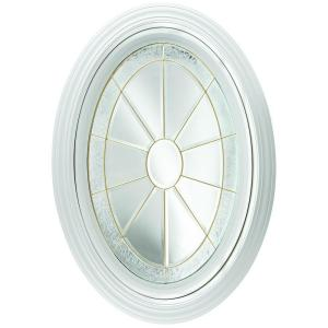 Hy Lite 23 25 In X 35 25 In Decorative Glass Fixed Oval