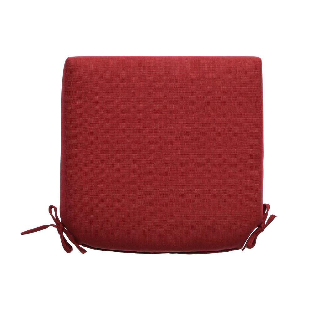 Hampton Bay 21 X 21 Outdoor Chair Cushion In Standard Chili