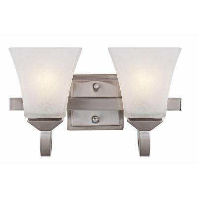 Torino 2-Light Satin Nickel Wall Mount Sconce