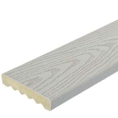 1 in. x 5-1/4 in. x 12 ft. Gray Square Edge Capped Composite Decking Board (56-Pack)