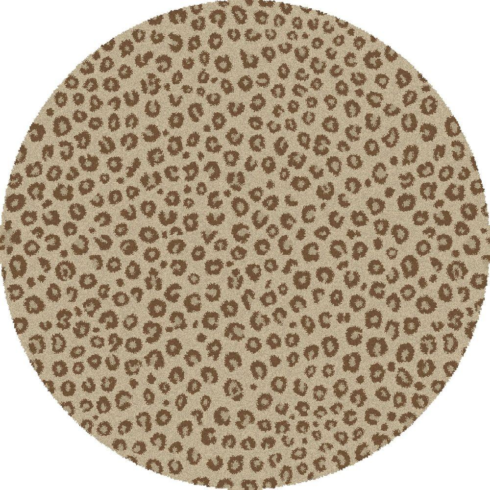 Navy Leopard Print Rug: Concord Global Trading Shaggy Leopard Ivory 6 Ft. 7 In