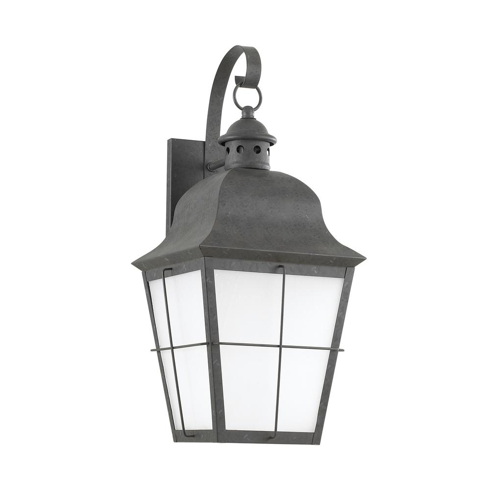 Sea Gull Lighting Chatham 1-Light Oxidized Bronze Outdoor 21 in. Wall Lantern Sconce