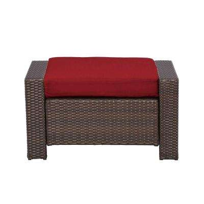 Beverly Patio Ottoman with Cardinal Cushion