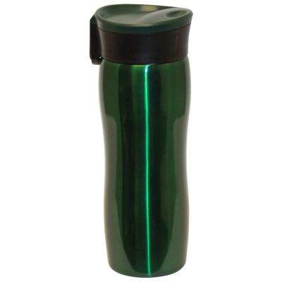 14 oz. Hunter Green Double Wall Stainless Steel Vacuum Tumbler with Push Button (6-Pack)