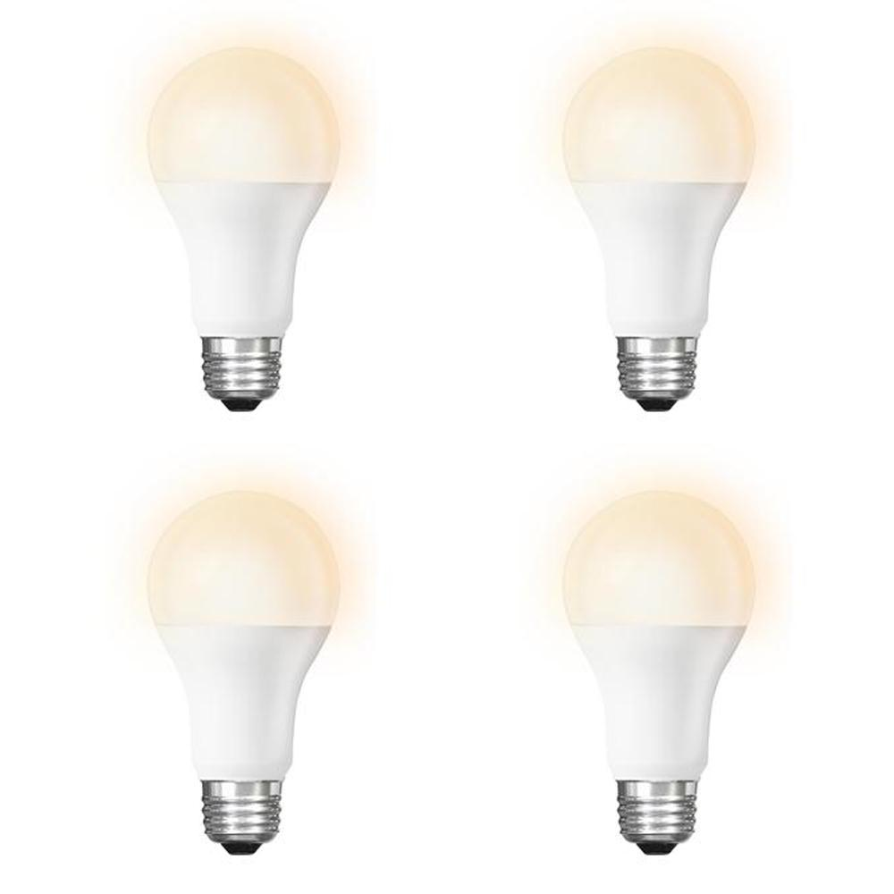 Feit Electric 60-Watt Equivalent Soft White (2700K) A19 Dimmable Wi-Fi LED Smart Light Bulb (4-Pack)