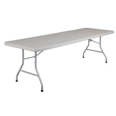 96 in. Grey Plastic Folding Banquet Table