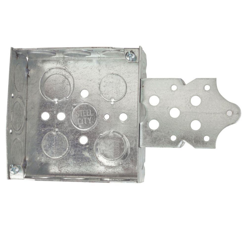 4 in. Pre-Galvanized Steel Square Box (Case of 25)