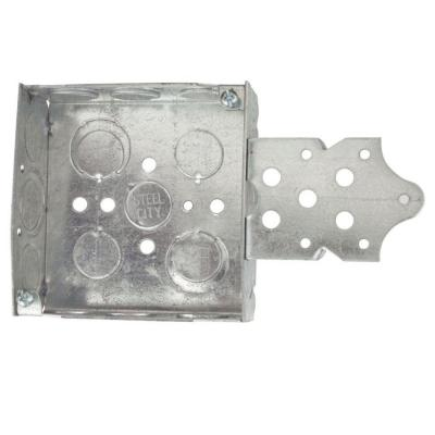 1-Gang 4 in. New Work Pre-Galvanized Metal Square Electrical Box (Case of 25)