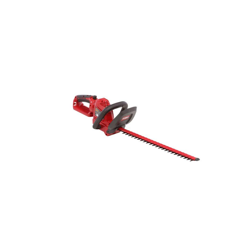Toro 22 in. 20-Volt Max Lithium-Ion Cordless Hedge Trimmer - Battery Not Included