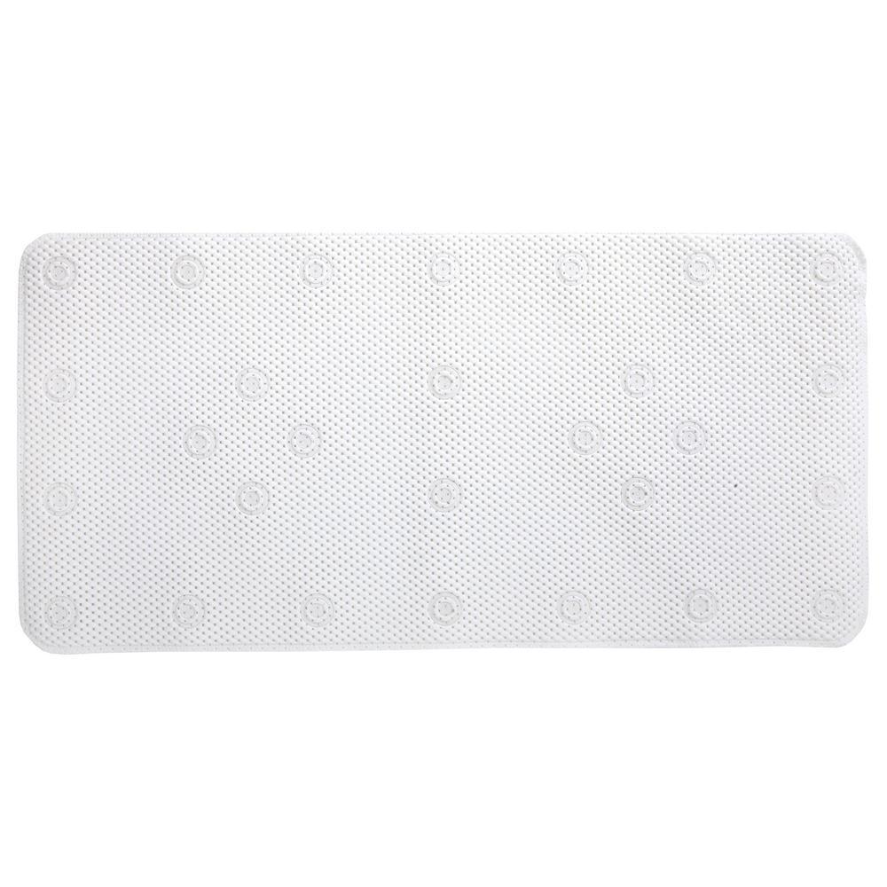 17 in. x 36 in. Comfort Foam Bath Mat in White