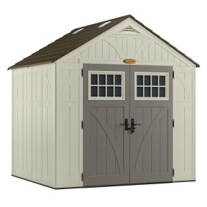 Suncast Tremont 7 ft. 1-3/4 inch x 8 ft. 4-1/2 inch Resin Storage Shed by Suncast