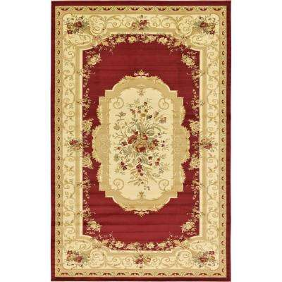 Versailles Red 10 ft. 6 in. x 16 ft. 5 in. Area Rug