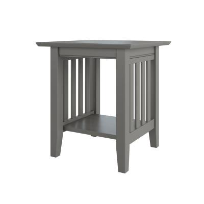 Mission Grey End Table