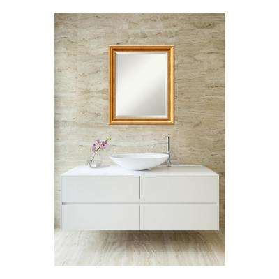 Townhouse Gold Wood 19 in. W x 23 in. H Single Traditional Bathroom Vanity Mirror
