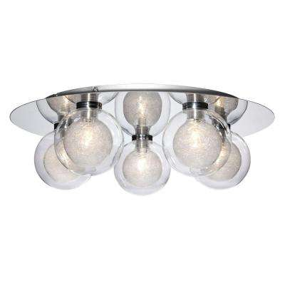 Cambria Collection 5-Light Chrome Flush Mount