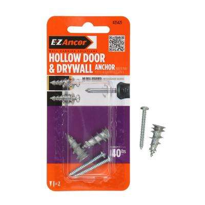 Stud Solver 40 lbs. #6 x 1-1/4 in. Hollow Door and Drywall Anchors (2-Pack)