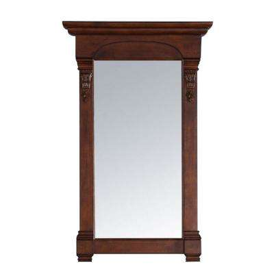 Brookfield 26 in. W x 42 in. H Framed Wall Mirror in Warm Cherry