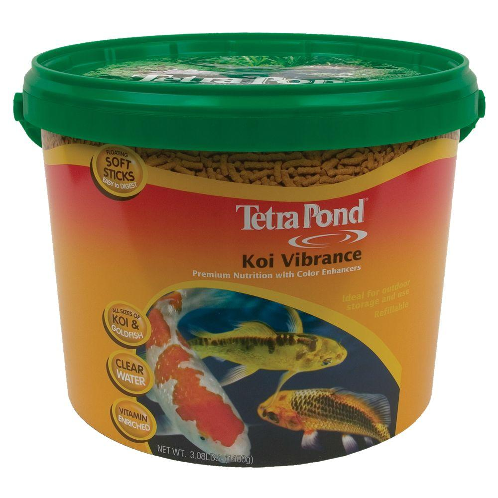 Tetrapond koi vibrance lb fish food 16459 the home for Pond fish food