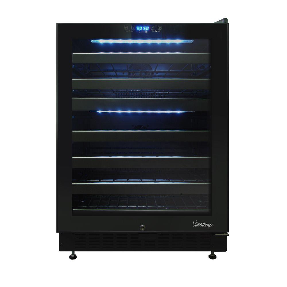 Vinotemp 46-Bottle Dual Zone Touch Screen Wine Cooler