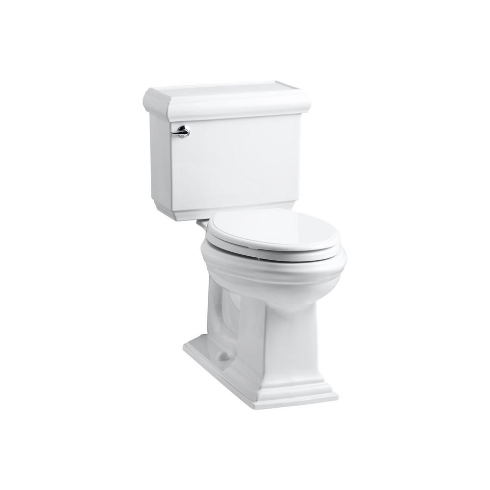 Astounding Kohler Memoirs Classic 2 Piece 1 6 Gpf Single Flush Elongated Toilet In White With Rutledge Quiet Close Toilet Seat Pabps2019 Chair Design Images Pabps2019Com
