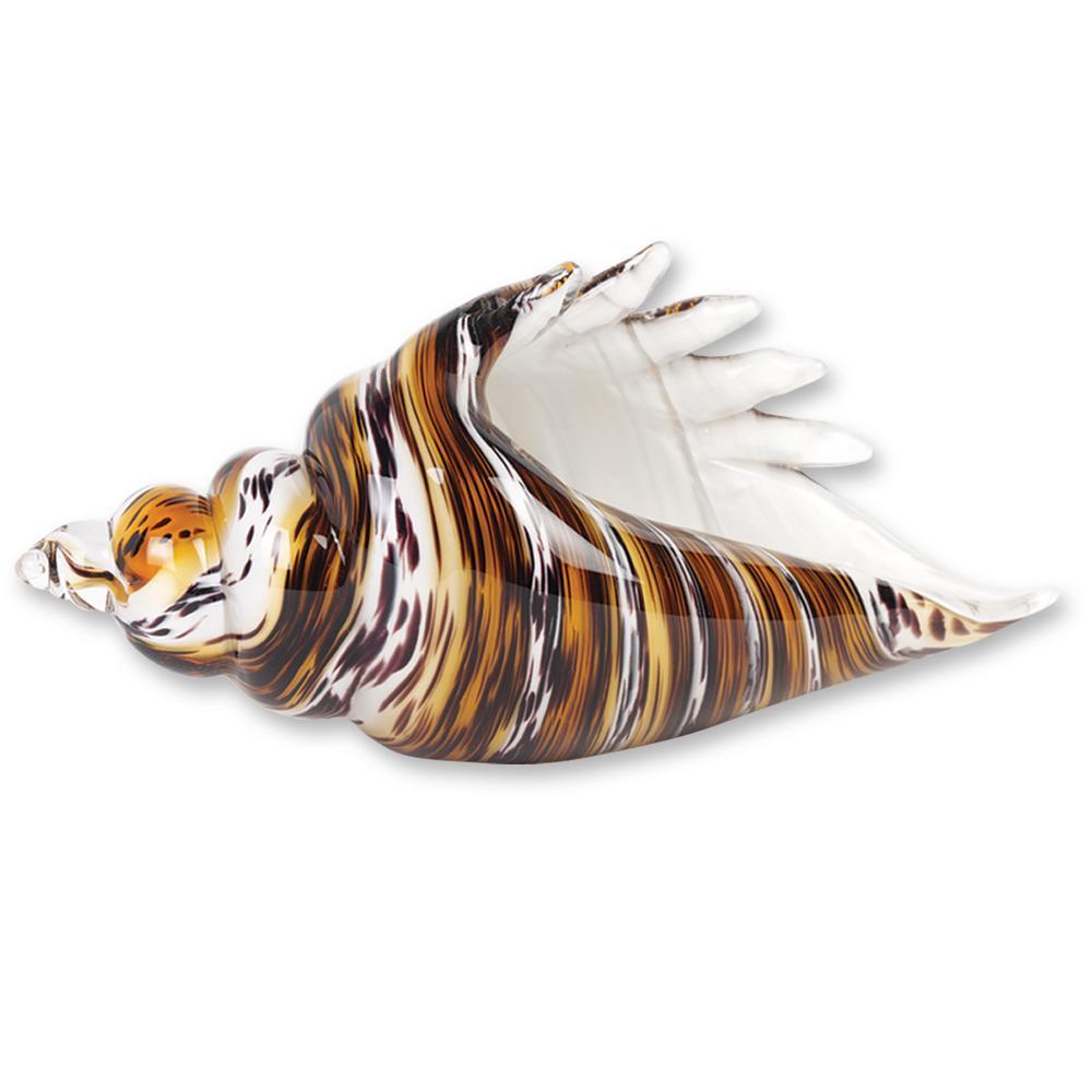 Murano Style Art Glass Conch Shell in Art Glass