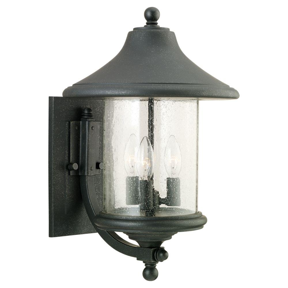 Sea Gull Lighting Berkley Hill 3-Light Forged Iron Outdoor Wall Fixture-DISCONTINUED