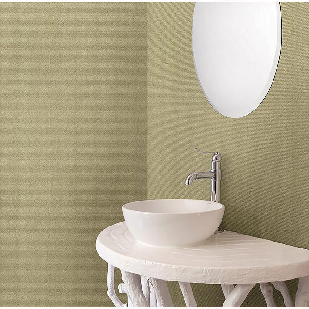 Sage Textile Texture Wallpaper