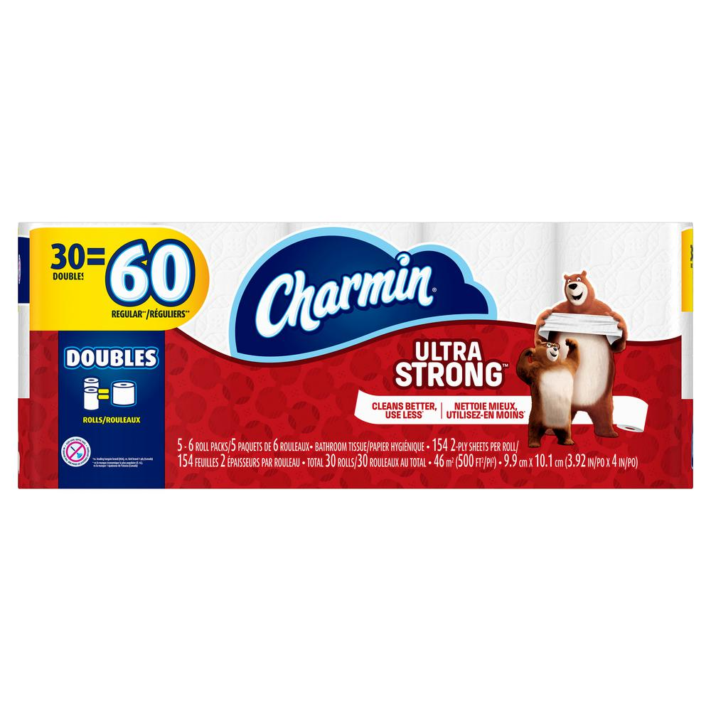 Charmin Ultra Strong Toilet Paper 30 Double Rolls
