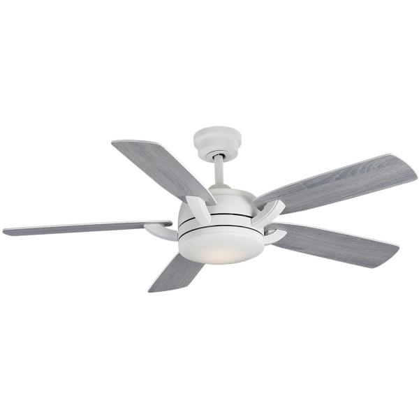Colemont 52 in. Integrated LED Matte White Ceiling Fan with Light and Remote Control