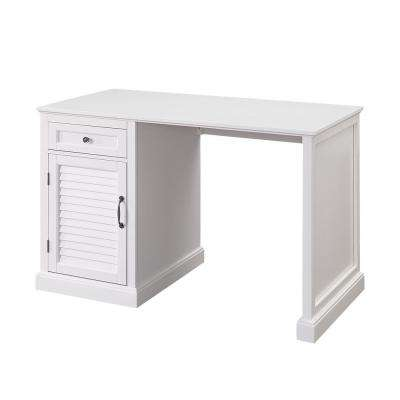 White Chapman Side Panel Desk